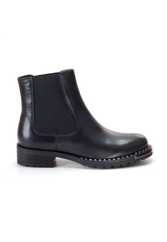 Shu Talk 黑色 Amaztep 型格真皮短靴 A81B5SH232204EGS_1