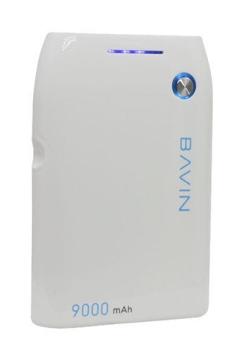 BAVIN white Portable Powerbank 9000mAh with Light Indicator 20D6DAC352B8E3GS_1