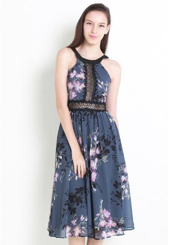 Leline Style grey Danny Floral Dress LE802AA48ALJSG_1