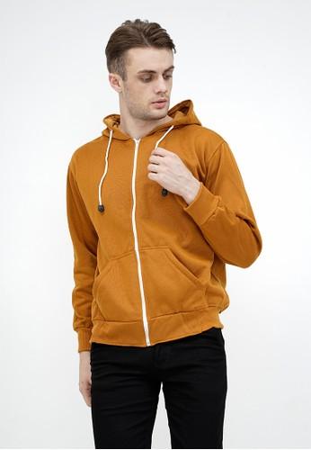 House of Cuff n/a Jaket Polos Hoodie Zipper Sweater Warna mustard 47AC5AA370FA1DGS_1