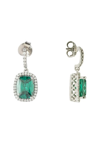 Celline Silver green and multi Emerald Cubic Zirconia D8757ACDAF982BGS_1
