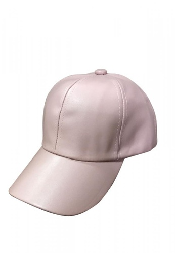 Bags Life pink Leather Cap BA375AC0IL9RPH_1