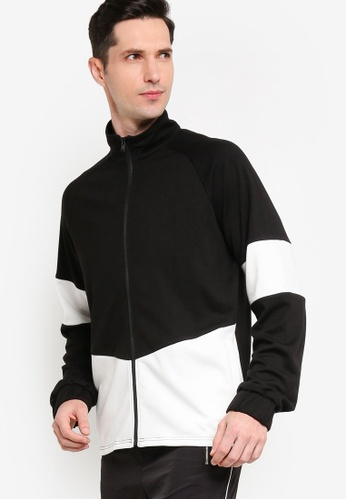 ZALORA ACTIVE black and multi Colourblock Zip Up Jacket E45B0AA1DDEDD1GS_1
