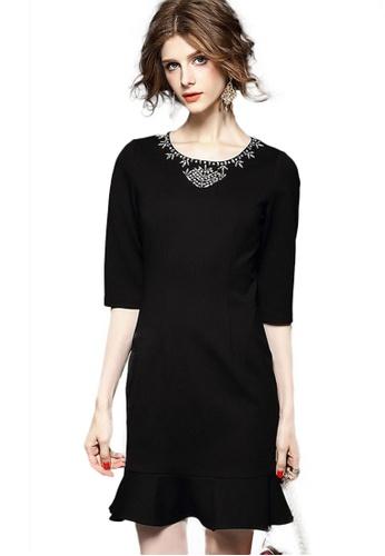Sunnydaysweety black Super Sale New Jeweled Collar Fishtail Dress CA20050861BK BD680AAE02E298GS_1