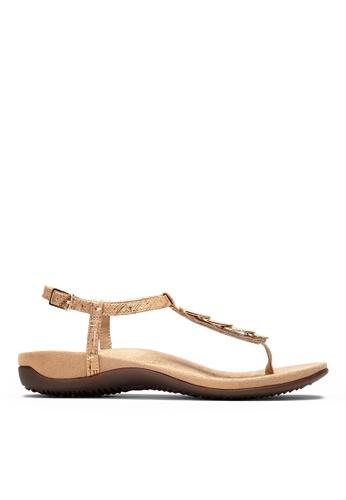 Vionic beige Miami T-Strap Sandal 8544FSHF14182CGS_1