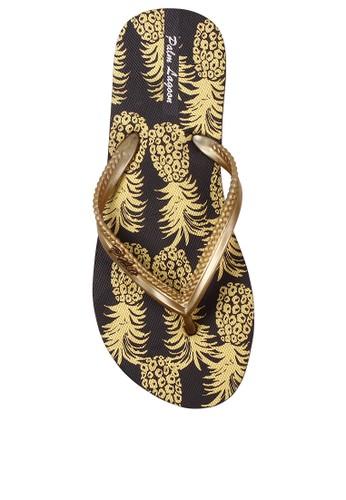 Palm Lagoon gold Sandals & Flip Flop Pineapple Black 4909ESH6A65243GS_1