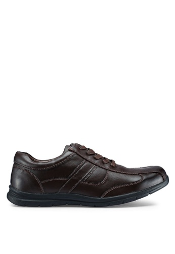 Bata brown Brown Lace Up Shoes 69B16SHFA205BBGS_1