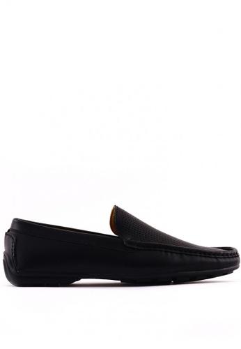 7soles black Fabio MS Smart Casual Shoes 7S266SH0JRASPH_1