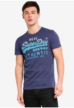 986a7376155 Superdry blue Vintage Authentic Fade Tee 5188DAA87DA732GS 1