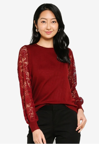ONLY red Vicky Lace Pullover 9CA3EAAB726A58GS_1