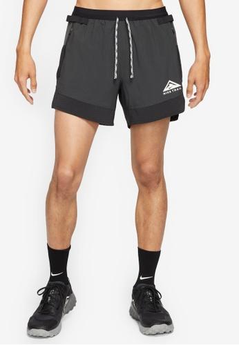 Nike black Trail Flex Stride 5 Running Shorts 16D1EAA07D1296GS_1