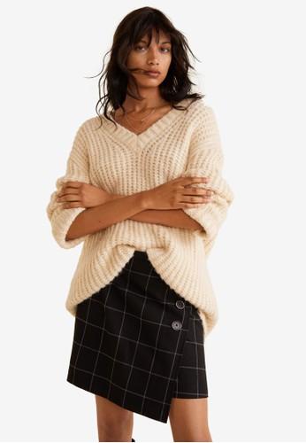 Mango black Check Mini Skirt 9F864AA3EC35F0GS_1