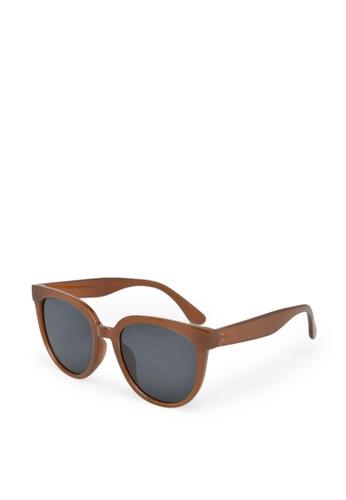 9 to 12 brown Oversize Sunglasses Kacamata Wanita [5504] 927E8GL6AD7621GS_1