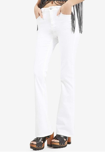 TOPSHOP white Moto White Flared Jamie Jeans TO412AA0SD5GMY_1