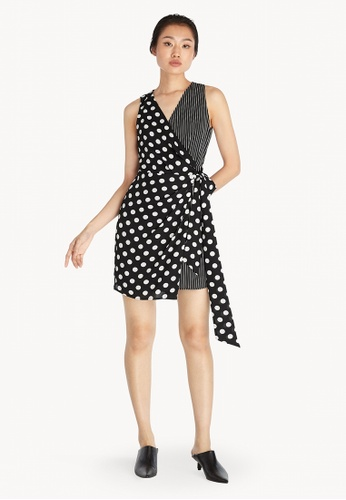 Pomelo black Mixed Prints Sleeveless Dress - Black 24925AA3388A4CGS_1