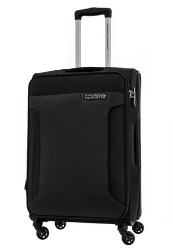 American Tourister black American Tourister Troy Spinner 68/25 TSA 4F6A4ACAE05DCAGS_1