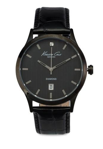 IKCesprit 香港8071 QA 三指針日期皮革錶, 錶類, 皮革錶帶