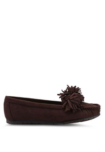 Noveni brown Tassled Loafers 48AF3SH301D598GS_1