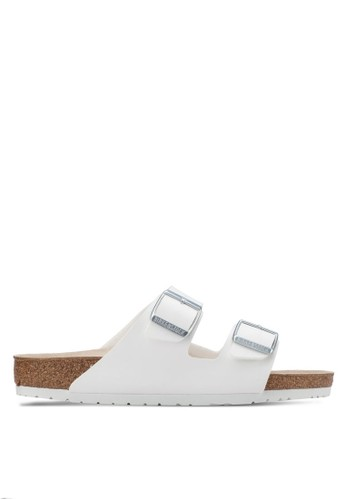 Birkenstock white Arizona Birko-Flor Sandals BI090SH0UCZGID_1