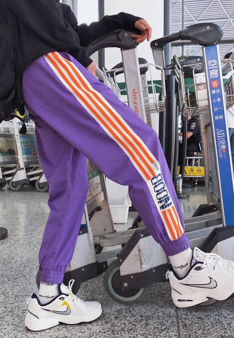 hk Side ehunter Pants Stripe purple Men qtfYf