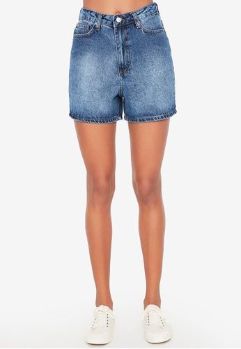 Trendyol blue Basic Denim Shorts 644B8AA38F1609GS_1