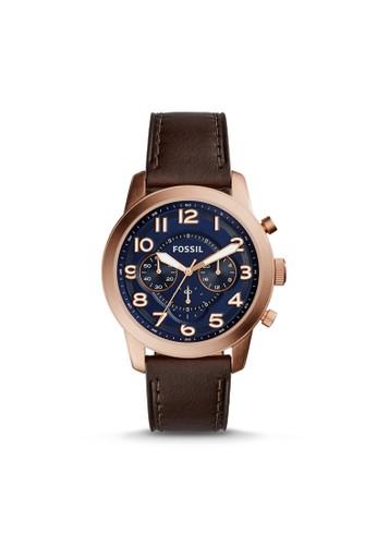 Fossil PILOT 54紳士型男錶 FS5204, 錶類esprit鞋子, 紳士錶