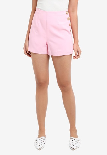 Miss Selfridge pink Petite Pink Tailored Shorts BCC03AA6954607GS_1