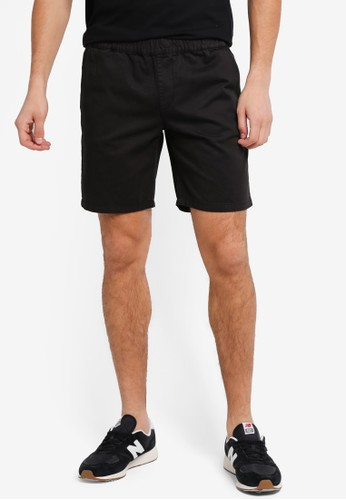 "ZALORA black 6"" Elastic Waist Band Chino Shorts 820F5AA01730E9GS_1"