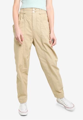 Free People beige Ready To Run Cinch Waist Pants 2372FAAFC2C744GS_1