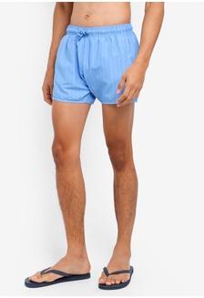 a8fb86b8a6 Blue Overdye Stripe Swim Shorts F821AUSBB2194FGS 1 Topman ...