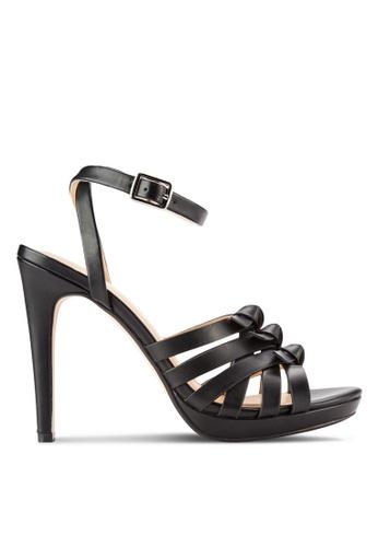 ZALORA black Knot Heel Sandals 53751SH2D5BDD7GS_1