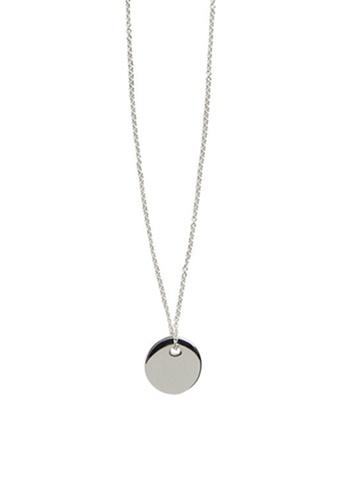 Mango silver Geometric Pendant Necklace D392FACCDA149EGS_1