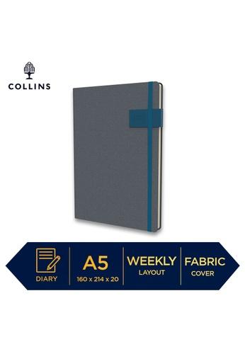 Collins Collins GAIA ─ 2021 Calendar Year Diary ─ Digital Teal ─ A5 Week to View E1790HL20EA8B0GS_1