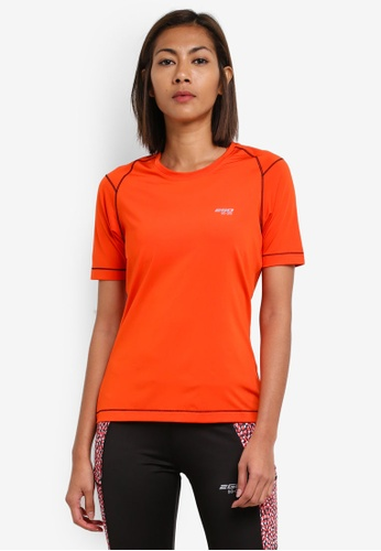 2GO orange Round Neck Short Sleeve T-Shirt 2G729AA0S5XHMY_1