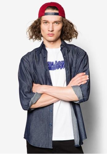 丹寧長esprit 台北袖襯衫, 服飾, 襯衫