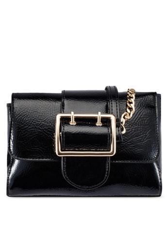 Dorothy Perkins black Black Buckle Crossbody Bag DO816AC0S0A0MY_1