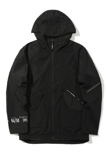 izzue black Hooded jacket DABDFAA3F1813CGS_1