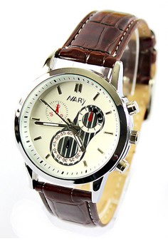NARY Women's Leather Watch - 6041