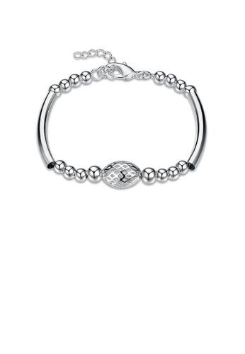 Glamorousky silver Fashion Simple Hollow Oval Bracelet 510B9ACCC47C62GS_1