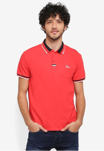 Fidelio red Sleeves Casual Polo Shirt 71DF6AA549947FGS_1