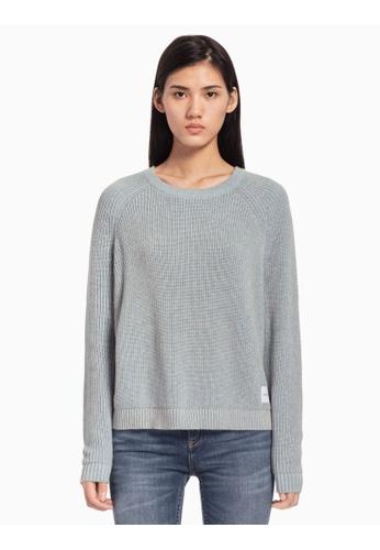 459f4e660e Calvin Klein blue Calvin Klein Crew Neck Knit Pullover Sweater  DE078AAC6C3ADBGS 1