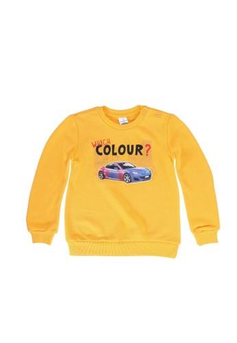 LC Waikiki yellow Baby Boys Graphic Sweatshirt B9F69KAE3A2F8CGS_1