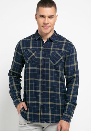 Cressida navy Indigo Checked Shirt 1D65DAA73B3AEBGS_1