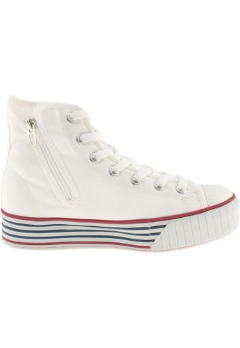 Maxstar Maxstar Women's C30 7 Holes Zipper Canvas High Top Platform Sneakers US Women Size MA164SH19PXKSG_1
