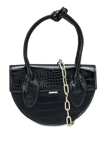 NATALIE & PEPPER black Becca Knot Handle Bag D428FAC12D1D9FGS_1