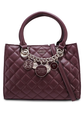 Guess Red Victoria Small Friend Satchel Bag 94610ace306ffdgs 1