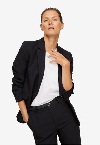 Mango black Fitted Essential Suit Jacket 48F3DAAAB47541GS_1