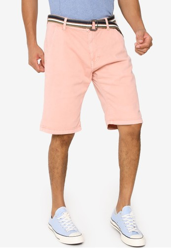Indicode Jeans pink Royce Shorts with Belt 788AEAA4A2AD12GS_1