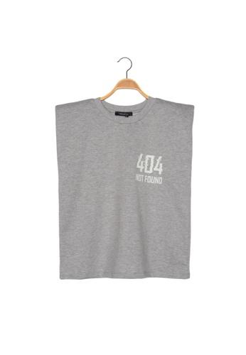 Trendyol grey Printed Sleeveless T-Shirt 4F199AA07F5DE2GS_1
