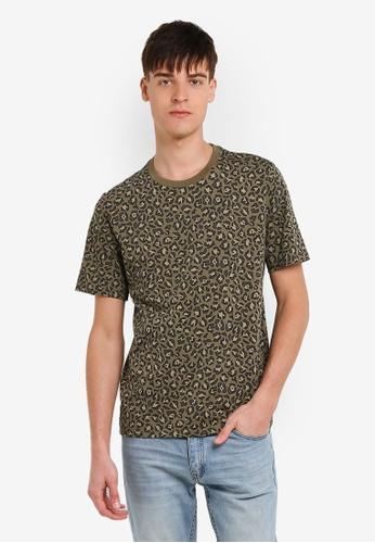 Converse green Converse Essentials Leopard T-Shirt CO302AA0RZZ4MY_1